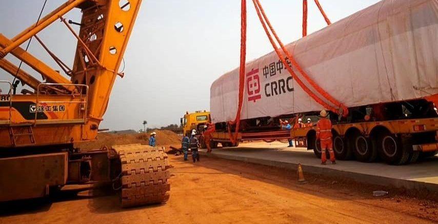 Sur un chantier du consortium sino-singapouro-guinéen SMB-Winning.
