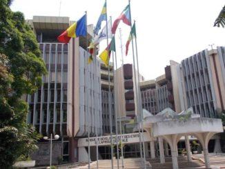 Le siège de la Banque des Etats d'Afrique Centrale (BEAC) à Brazzaville, au Congo. (Crédits : BDEAC)