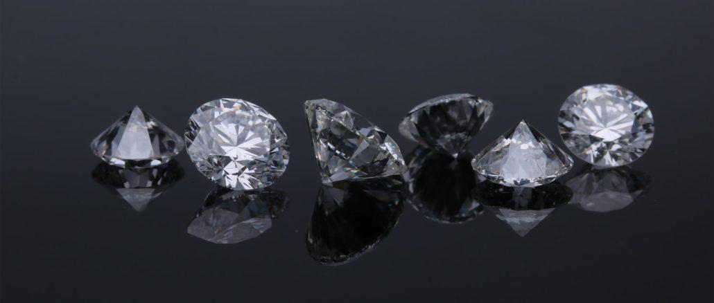 De beaux diamants, minéraux rares.