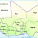 Une carte de l'Afrique de l'Ouest.